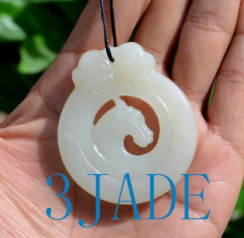 Hetian jade horse
