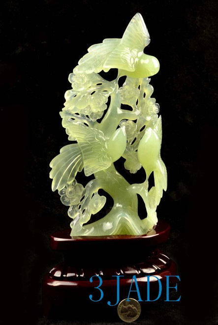 Chinese bird flower carving