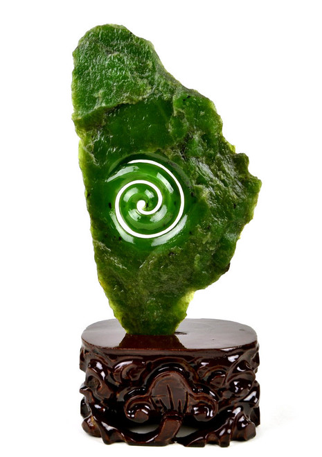 jade Koru statue