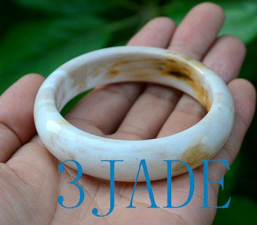58.5mm petrified wood bangle bracelet