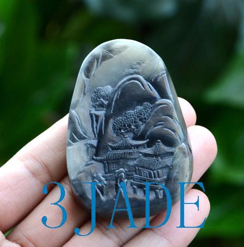 Qinghua seed jade carving