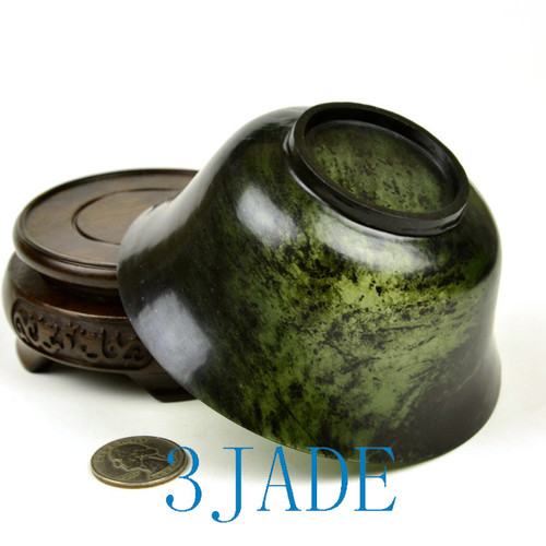 translucent green serpentine stone bowl