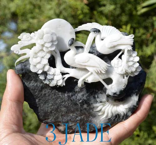 stone bird carving
