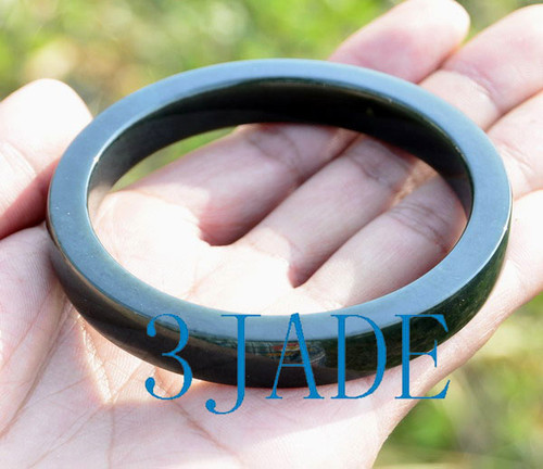 Dark green jade bangle