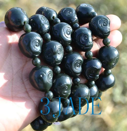 jade monkey beads bracelet