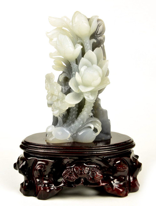 Hetian white jade carving