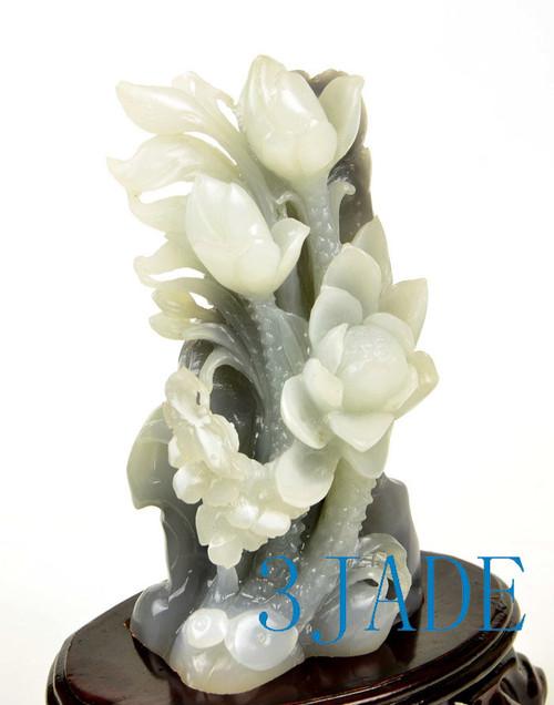 Fine white nephrite jade