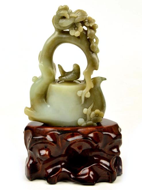 Hetian jade teapot