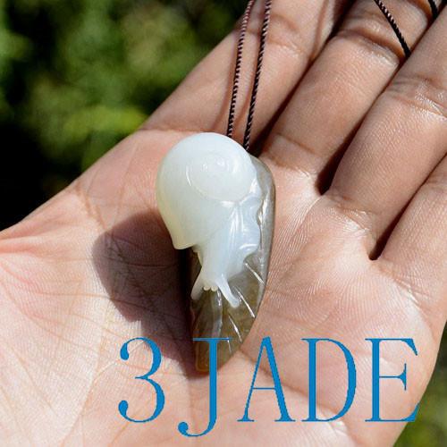 jade snail pendant