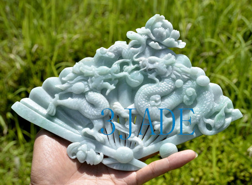 jade fan sculpture