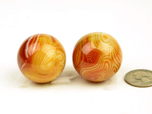 Red Striped Agate Sphere