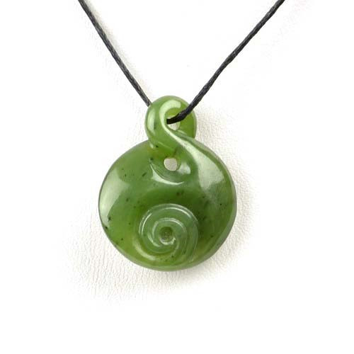 green jade twist pendant