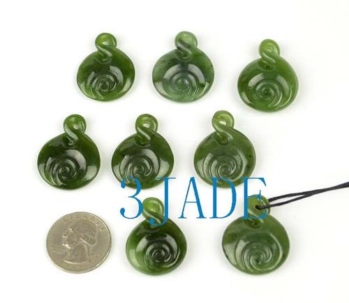 green jade twist necklace