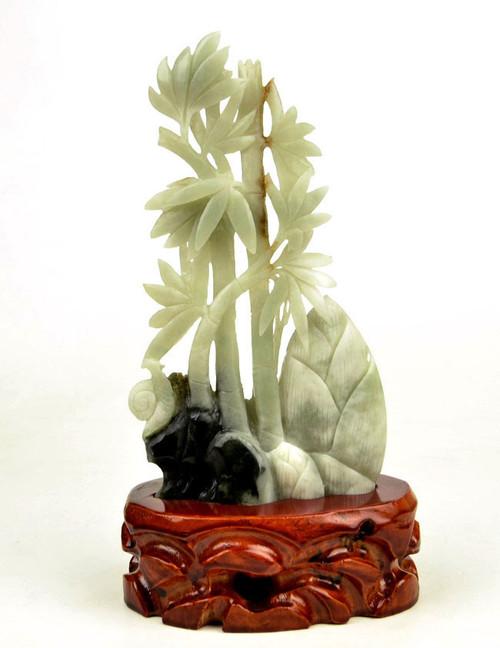 Dushan Jade Bamboo Plant Statue