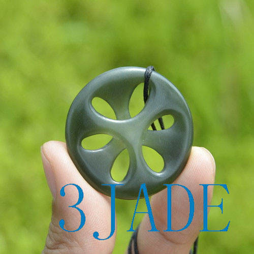 Maori Jade Celtic Trinity Cross