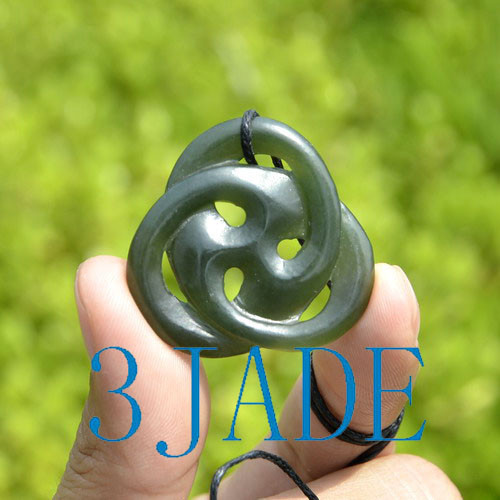 Jade Celtic Trinity Knot