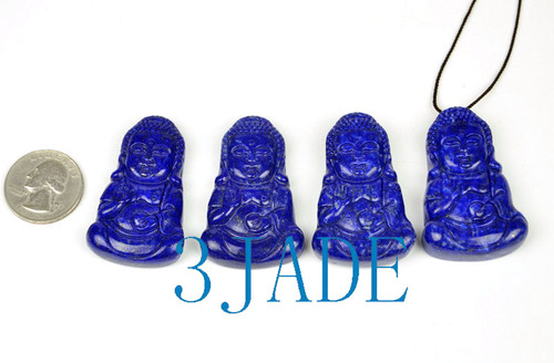 Lapis Lazuli Gemstone Buddha Pendant