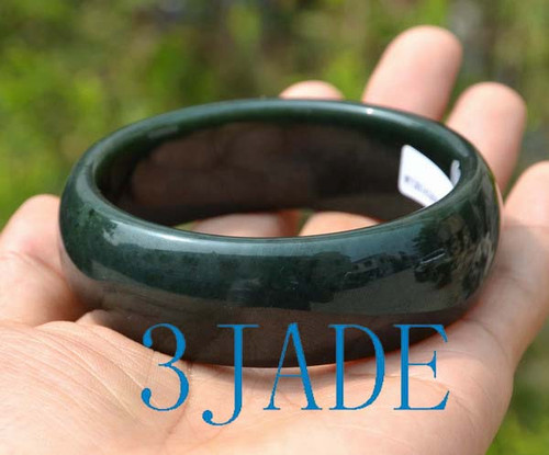 large size green jade bangle