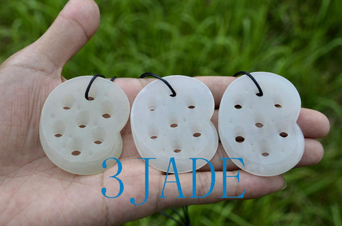 white jade lotus root slice