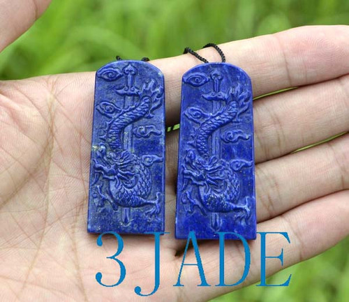 Lapis Lazuli Dragon Pendant