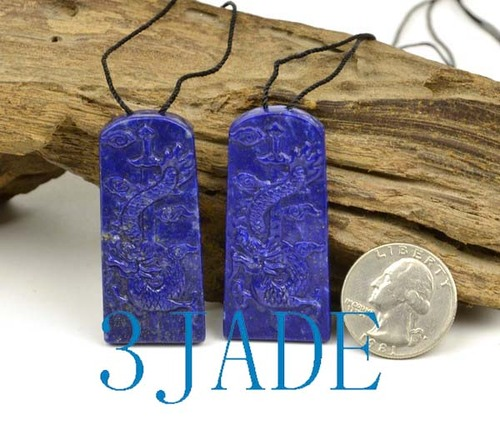 Lapis Lazuli Chinese Dragon Pendant