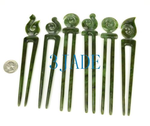 green jade Maori Heru comb