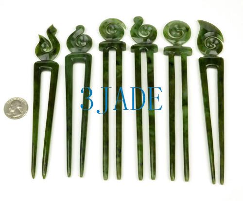 jade Maori hair stick