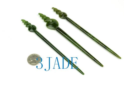 Maori jade hair stick