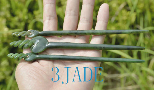 Maori jade hairpin