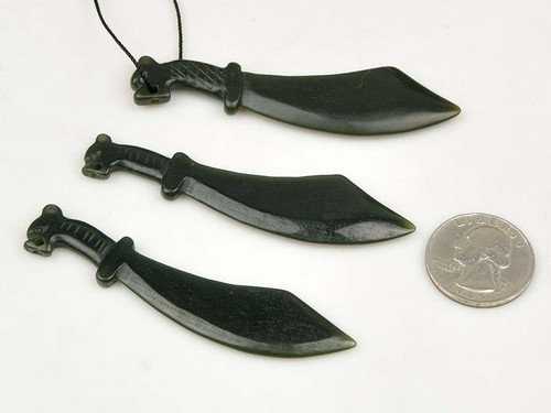 jade knife sword pendant