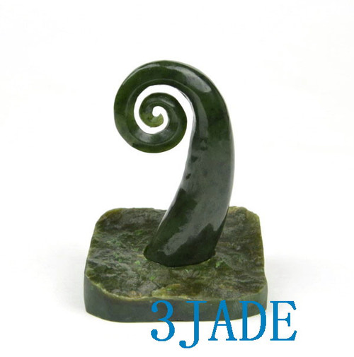 Jade spiral mini sculpture