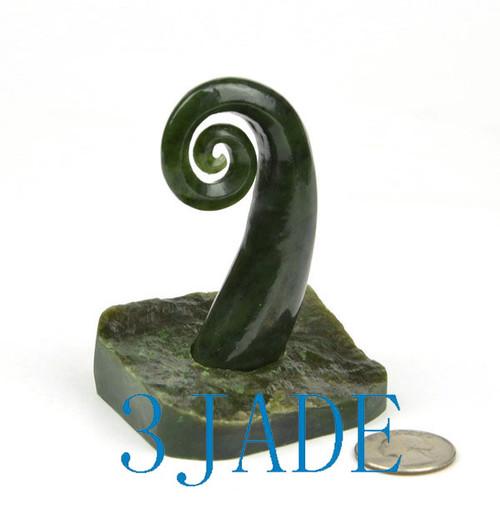 jade spiral statue