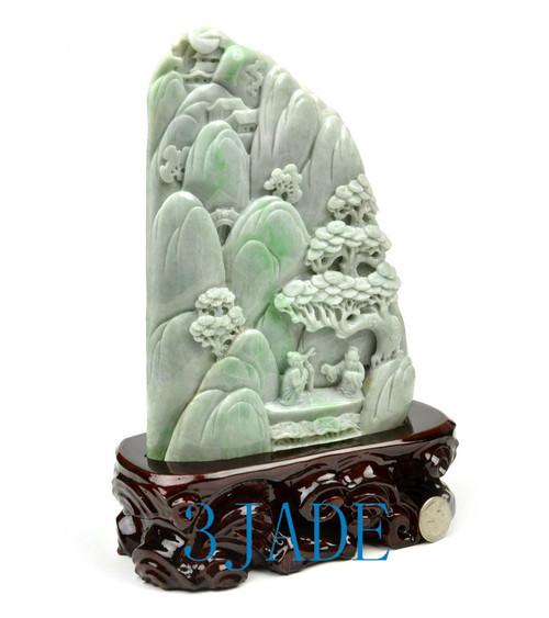 jade mountain statue