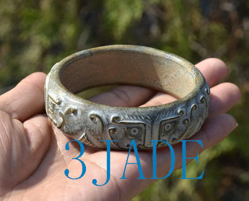 Chinese ancient style jade bangle