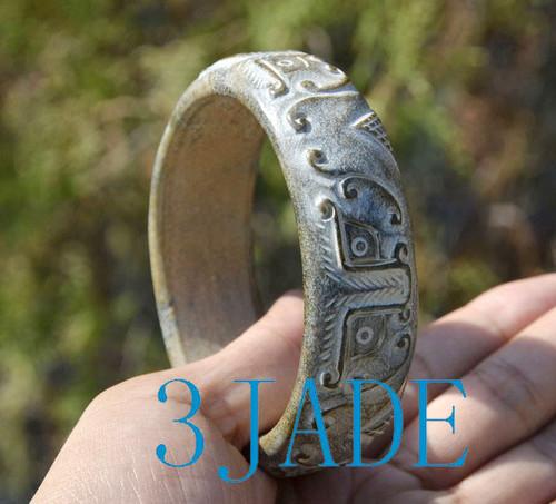 carved Chinese jade bangle