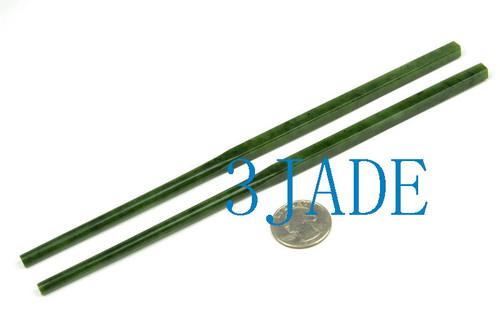 Handmade Green Nephrite Jade Chopsticks
