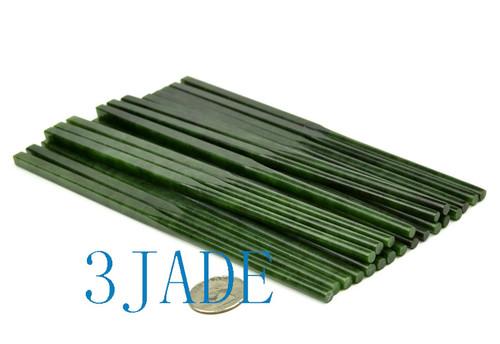 green jade gemstone chopsticks
