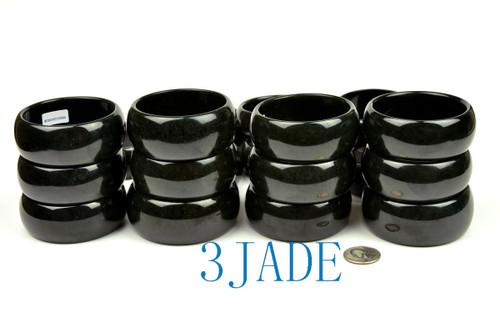 black nephrite jade bangle
