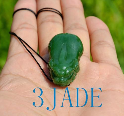 high quality green jade Pixiu