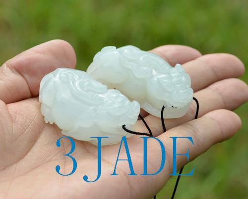 white jade Pixiu pendants