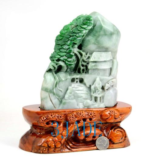 A grade green jade Shanzi