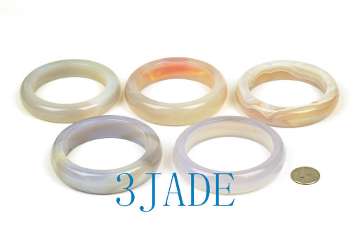 Large size agate bangle