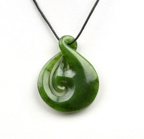greenstone twist pendant necklace