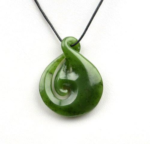greenstone twist pendant necklace