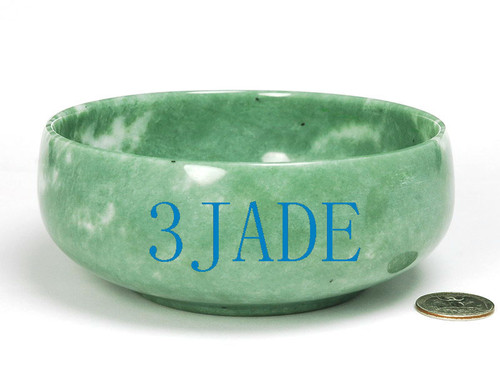hand carved green stone bowl