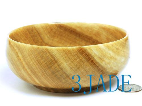 large wood grain stone bowl