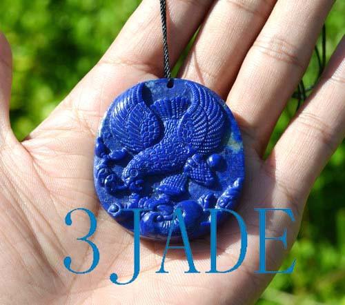 Lapis Lazuli Eagle Pendant