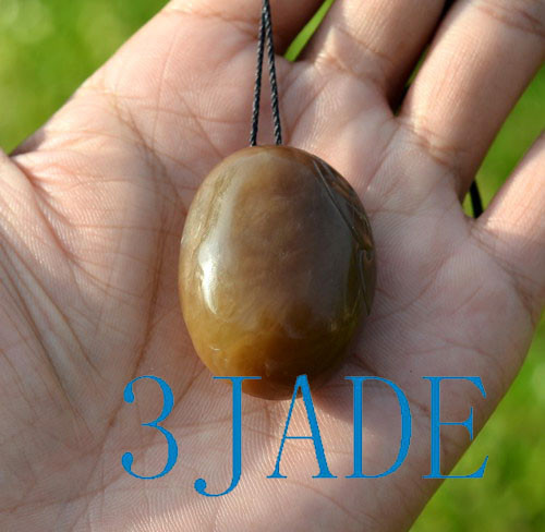 honey brown jade pendant