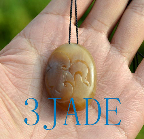 honey brown nephrite jade