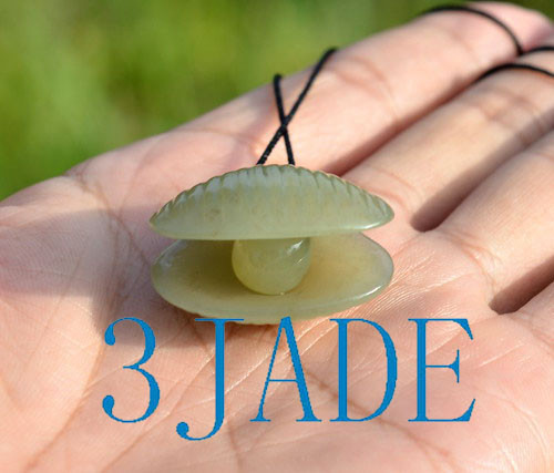 hand carved jade clam